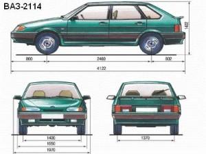 vaz-2114-size